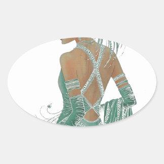 Hakuna Matata Ladies Going Green.png Oval Sticker