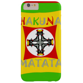 Hakuna Matata Rasta Color Red Golden Green Barely There iPhone 6 Plus Case