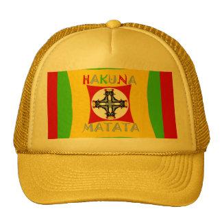 Hakuna Matata Rasta Color Red Golden Green Cap