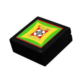 Hakuna Matata Rasta Color Red Golden Green Gift Box