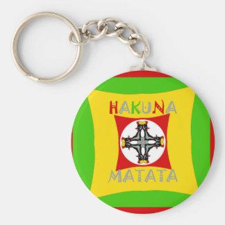 Hakuna Matata Rasta Color Red Golden Green Key Ring