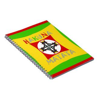 Hakuna Matata Rasta Color Red Golden Green Notebook