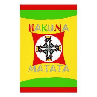 Hakuna Matata Rasta Color Red Golden Green Stationery