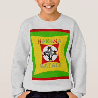 Hakuna Matata Rasta Color Red Golden Green Sweatshirt