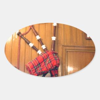 Hakuna Matata Scotland Musical bagpipe Gifts.png Oval Sticker