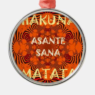 Hakuna Matata Uniquely Exceptionally latest patter Metal Ornament