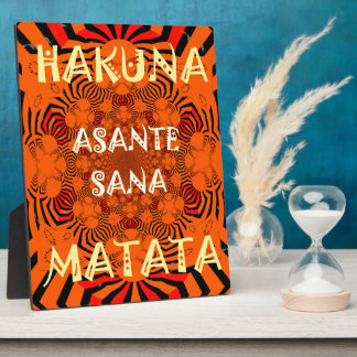 Hakuna Matata Uniquely Exceptionally latest patter Plaque