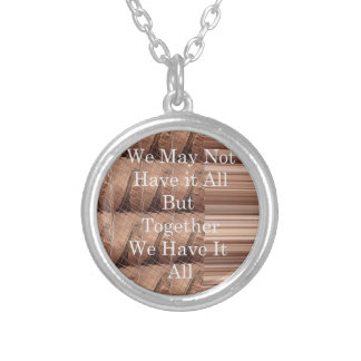 Hakuna Matata woven art Silver Plated Necklace