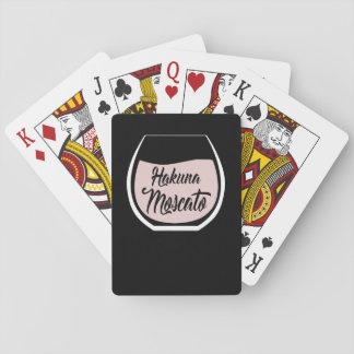 Hakuna Moscato funny deck of playing cards