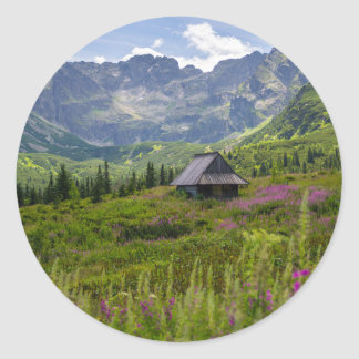 Hala Gasienicowa Mountain Huts Classic Round Sticker