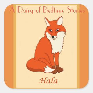 Hala the Fox Square Sticker