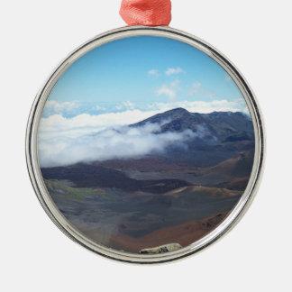 Haleakala, Hawaii Silver-Colored Round Decoration