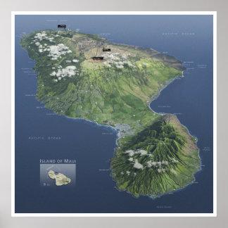 Haleakala map poster
