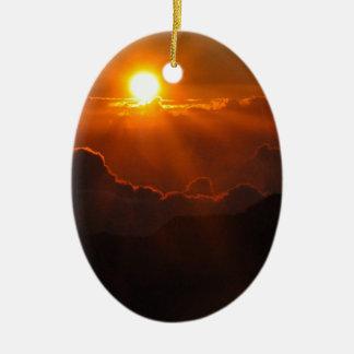Haleakala Sunrise in Hawaii Ceramic Ornament