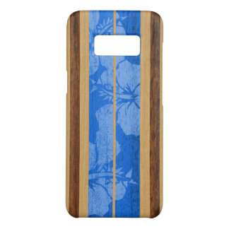 Haleiwa Surfboard Hawaiian Faux Wood - Blue Case-Mate Samsung Galaxy S8 Case