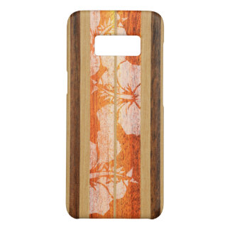 Haleiwa Surfboard Hawaiian Faux Wood - Red Case-Mate Samsung Galaxy S8 Case