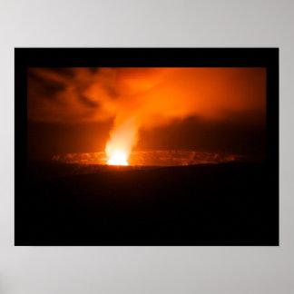 Halema`uma`u Crater at Night Poster