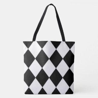 Halequin_Classic_B & W_LG _Multi-Sizes Tote Bag