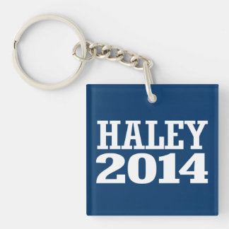 HALEY 2014 Double-Sided SQUARE ACRYLIC KEY RING
