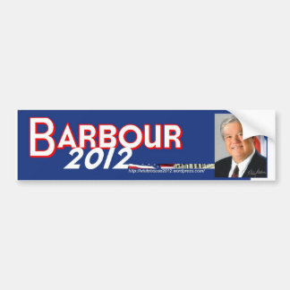 Haley Barbour 2012 Bumper Sticker
