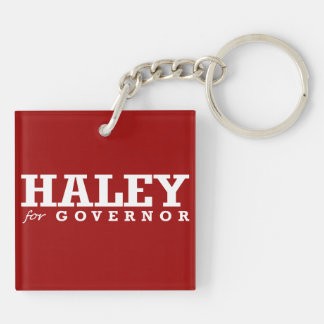 HALEY FOR GOVERNOR 2014 Double-Sided SQUARE ACRYLIC KEY RING
