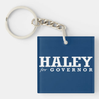HALEY FOR GOVERNOR 2016 Double-Sided SQUARE ACRYLIC KEY RING