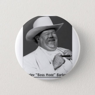 "Haley ""the Hogg"" Barbour 6 Cm Round Badge"