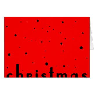 Half a Black Christmas & a Split Merry Card