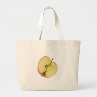 Half a red apple tote bag