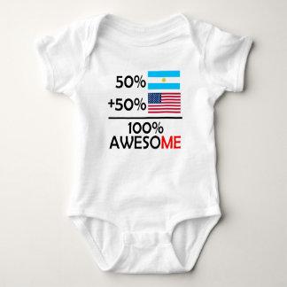 Half Argentinian Half American Baby Bodysuit