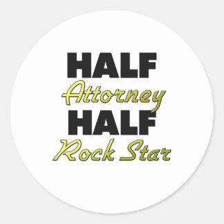Half Attorney Half Rock Star Round Sticker