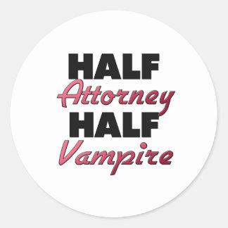 Half Attorney Half Vampire Stickers