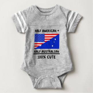 Half Australian 100% Cute Baby Bodysuit