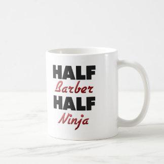 Half Barber Half Ninja Basic White Mug