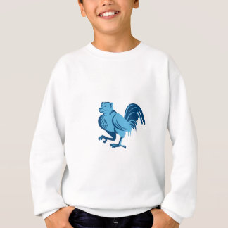 Half Bear Half Chicken Hybrid Marching Retro Sweatshirt