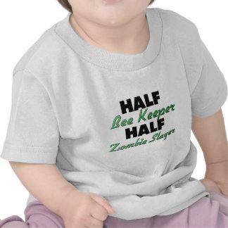 Half Bee Keeper Half Zombie Slayer Tshirts