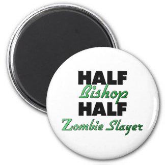 Half Bishop Half Zombie Slayer 6 Cm Round Magnet