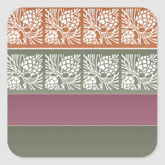 Half Blank +  Holistic Patterns n Color Grids Square Sticker