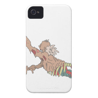 Half Bod Creepy Zombie Dragging Intestines Case-Mate iPhone 4 Case