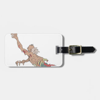 Half Bod Creepy Zombie Dragging Intestines Luggage Tag