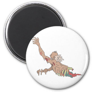 Half Bod Creepy Zombie Dragging Intestines Magnet