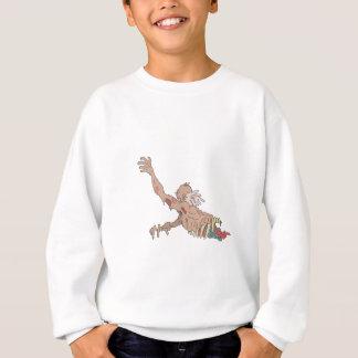 Half Bod Creepy Zombie Dragging Intestines Sweatshirt