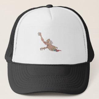Half Bod Creepy Zombie Dragging Intestines Trucker Hat