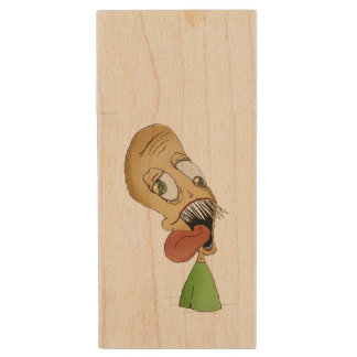 """Half-Body Larry"" 8gb USB Flash Drive Wood USB 2.0 Flash Drive"