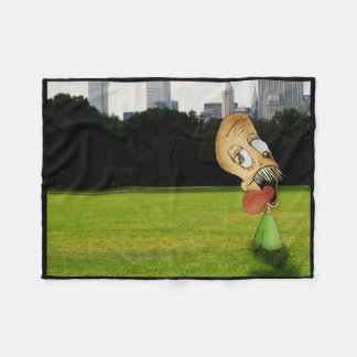 """Half-Body Larry"" Fleece Blanket"