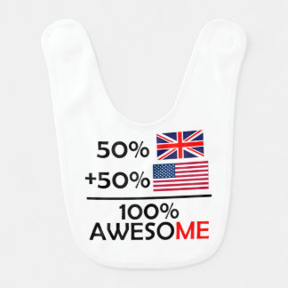 Half British Half American Bib