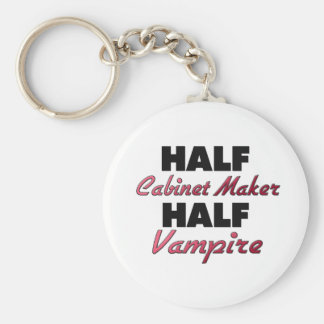 Half Cabinet Maker Half Vampire Basic Round Button Key Ring
