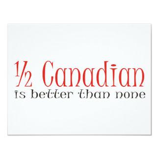 Half Canadian Custom Invites