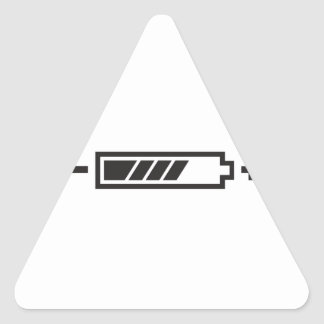 HALF CHARGE BATTERY TRIANGLE STICKER