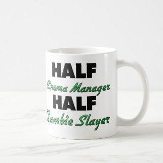 Half Cinema Manager Half Zombie Slayer Coffee Mugs